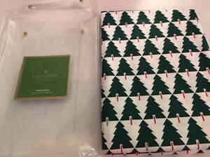 "Kate Spade Christmas Tablecloth Spruce Street 60"" x 102"" Green NWT"