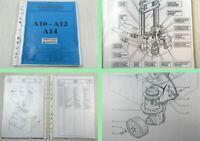 LOC A10 A12 A14 Hubwagen Betriebsanleitung Bedienung Ersatzteilliste Parts List
