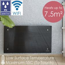 ADAX CLEA BLACK WIFI 600W Home Automation Glass Electric Radiator / Wall Heater