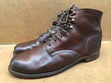 Men's Wolverine 1000 Miles Brown Plain Toe Leather Boots Size USA 12 D | Uk 11