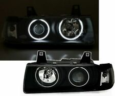 Black ccfl angel eye phares projecteurs bmw E36 saloon estate & compact TYP2