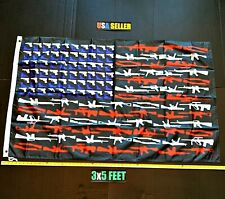 New listing Donald Trump 2020 Flag Free First Class Ship America Gun Army Usa New One Sided