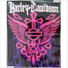 Harley Davidson Rising Cross Queen Blanket