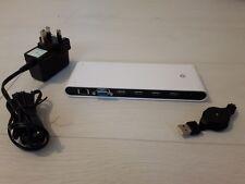 USB 2.0 Docking Station con VGA, Ethernet, Audio e 4 porte USB 2.0 NUOVO CON SCATOLA