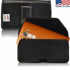 LG G4 Holster Black Belt Clip Case Pouch Leather Turtleback