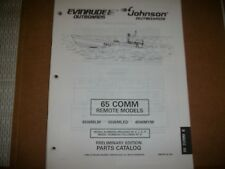 EVINRUDE OUTBOARD MOTOR BOAT ENGINE 65 COMM REMOTE MODELS Illust. parts