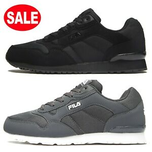 Mens FILA Cress Knit Trainers Shoes (Sizes 6 to 12) BLACK or GREY **Was £60 *New