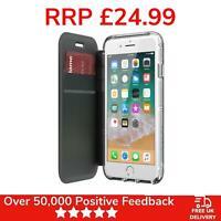 iPhone 8 Plus Case Griffin Survivor Protective Wallet Cover - Black/ Clear