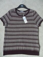 Women's Striped Short Sleeve Scoop Neck Thin Knit Jumpers & Cardigans