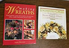 Lot of 2 Wreath Making Decorating Books~Enchanted Circles & Making Wreaths