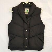 Vtg Sierra Designs CA USA Down Filled Puffer Vest Womens Sz 8 Zip Snaps Shawl