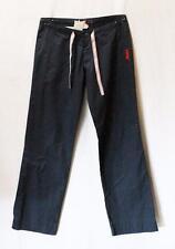 ROXY Surf Brand Navy Striped Tie Casual Day Pants Size 6-XXS BNWT #SS53