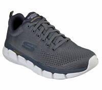 Skechers Shoes Charcoal Men Memory Foam Mesh Sport Comfort Casual Sneaker 52857