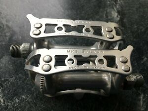 Classic MKS Sylvan Quill road bike pedals-Silver
