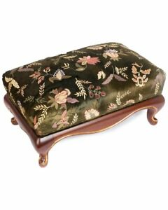 Jay Strongwater Melba Floral Ottoman