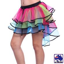 Rainbow Tiered Tutu Mini Tail Skirt Women Multilayer Party Dancewear CSKI82207