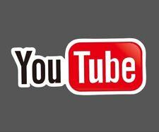 Youtube play button logo Sticker decal vinyl laptop car netbook