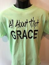 Christian Quote Shirt All About That Grace Shirt New Cross Short Sleeve