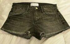BNWT Paper Denim & Cloth Women Classic 5 Vintage Cotton Cut-off Shorts Black 26