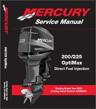 Mercury 200 / 225 OptiMax DFI 2-Stroke Outboard Motor Service Manual CD