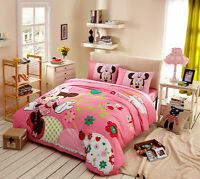 Disney Minnie Mouse 9pcs Comforter Set in a Bag Twin Full Queen Size Bedding Set