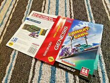 BOX ART ONLY Combat Cars Original Sega Genesis Case Sleeve