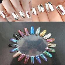 12 Colors Magico Specchio Cromato Brillanti Effetto Metallico Polvere Unghie