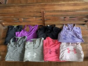 Under Armour Heat Gear Racerback Tank Top shirts athletic Women's Small S lot 8