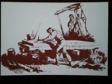 POSTCARD SOCIAL HISTORY RURAL INDUSTRY IN 19TH CENTURY - A MASON POLISHING MARBL