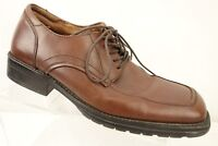 GBX Brown Leather Square Toe Lace Up Oxford Casual Work Shoe Men's Size 9 M