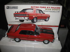 Classic 1.18 Retro Ford Falcon 1971 XY Wide BOOTS Gt-ho Track Red 18636