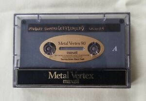 Cassette Tape Maxell Metal Vertex 90 Min. Used Recorded Well Cared For