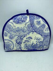 "Spode Blue Room Collection 100% Cotton Tea Cozy Made In England 12 3/4"" x 10"""