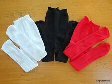 """Set 3 White Black & Red DOLL TIGHTS STOCKINGS fits 15"""" & 18"""" AMERICAN GIRL G/Z"""
