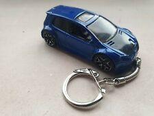 Diecast VW Volkswagon Golf GTi MkV Custom Blue Toy Car Keyring Keychain RECORDED