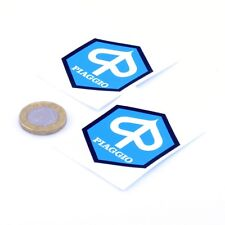 Piaggio Badge Sticker Decal Vinyl Motorbike 50mm x2 Scooter Moped Vespa