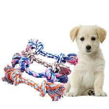 Fashion Puppy Game Toy Pet Dog Cotton Braided Bone Molar Rope Chew Knot Random