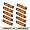 10 x 6 LED Side Marker Indicators Lights Amber for Truck Trailer Clearance Lamp