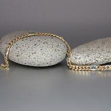 Armband Panzerarmband mit Aquamarin Steinen in 585/14K Gelbgold