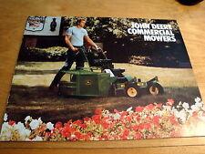 John Deere Brochure 32 36 48 52 Commercial Walk Behind Mower & 20/21 Mowers 1984