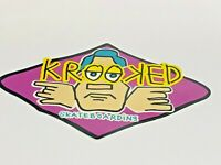 "Krooked, Vintage, SKATEBOARD, SNOWBOARD, Cool, Sticker, LARGE 6-1/2"" x 4"""