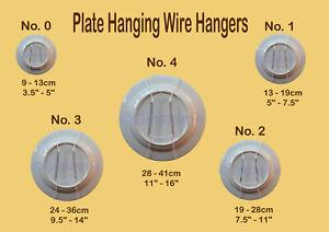 Flexible White Wire Plate Hanger Decor Display Spring Wall Hanger Dish Holder