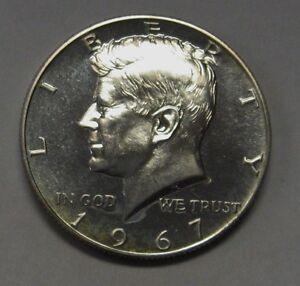 1967 SMS 40% Silver John F Kennedy Half Dollar Flashy Gem Priced Right