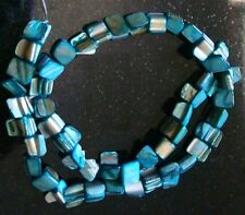 Turquoise baroque mother of pearl abalone shell nugget beads 16Inch strand bs331
