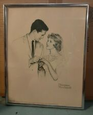 Norman Rockwell NEWLYWEDS Vintage Original Pencil Drawing SIGNED PRINT
