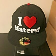 New Era 59fifty 5950 Fitted Flat Brim I love haters DGK motivation cap hat