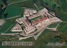 Aerial View of Fort Ticonderoga, New York, Military History, NY --- Postcard