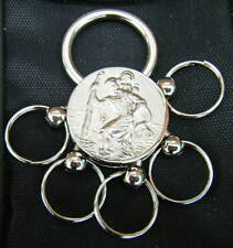 Chrome St. Christopher Quick Release Keyring Brand New