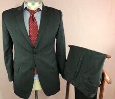 42R, 33 x 32 Mens BANANA REPUBLIC Modern Fit Italy Gray Lanificio Solid Suit B24