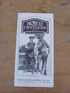1925 BOYCO Hiking Hunting Canteens Brochure Rare